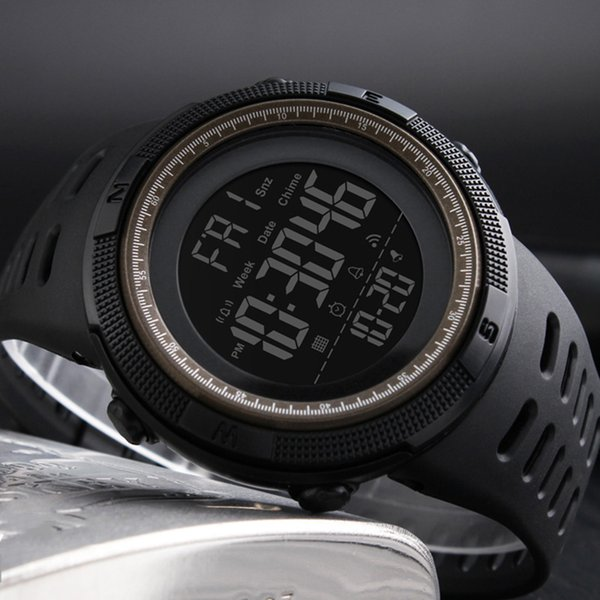Brand Men's Fashion Sports Watches Countdown Male Waterproof LED Digital Chrono Alarm Watch Man Clock Relogio Masculino