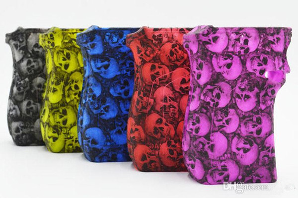 new MAG 225W Skull Head Design Silicone Cases Silicon Skull Skin Cover Rubber Sleeve Protective Covers For Smok MAG 225 Box Mod Kit Vape