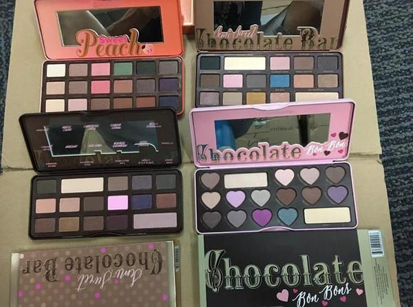 best selling Eyes makeup tool sweet peach eye shadow Chocolate Gold palette eyeshadow TF white Chocolate bar 18 colors Peaches Eye shadow Cosmetics A920