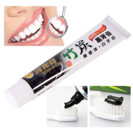 Bamboo Charcoal Black Toothpaste Anti-halitosis Stain Teeth Whitening Oral Care Whitening Bamboo Toothpaste CCA10583 300pcs
