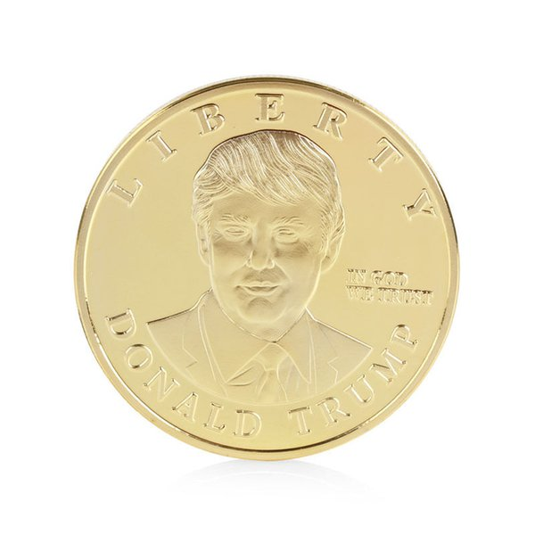 US Presidential Candidate Donald Gold Trump Plated Commemorative Coin Collection