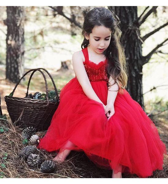 Neuankömmlinge Mädchen Kleid Kinder Euro Stil ärmellos Pailletten Design backless Kinder Mädchen Tutu Kleid Mädchen Kinder Geburtstagskleidung