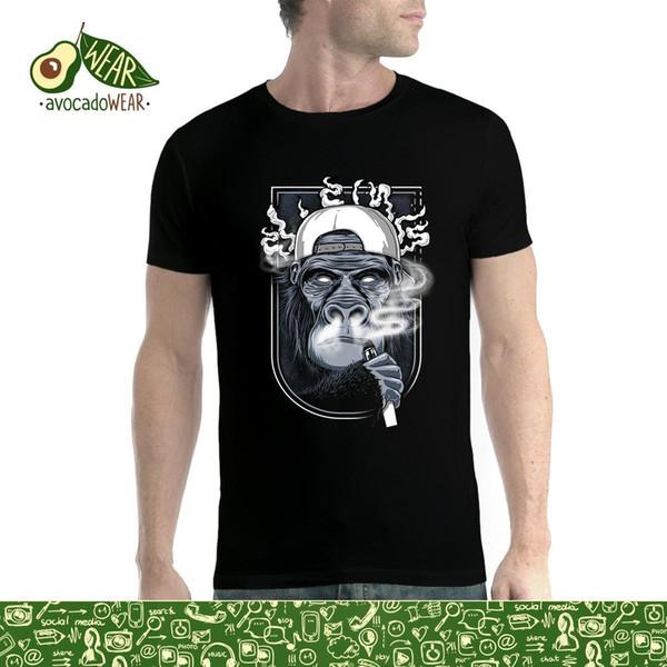 Macaco Cigarro Vaping Smoke Mens T-shirt S-3XL