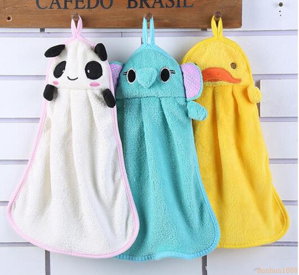 200pcs/lot Cute Animal Microfiber Kids Children Cartoon Absorbent Hand Dry Towel Lovely Towel For Kitchen Bathroom Use
