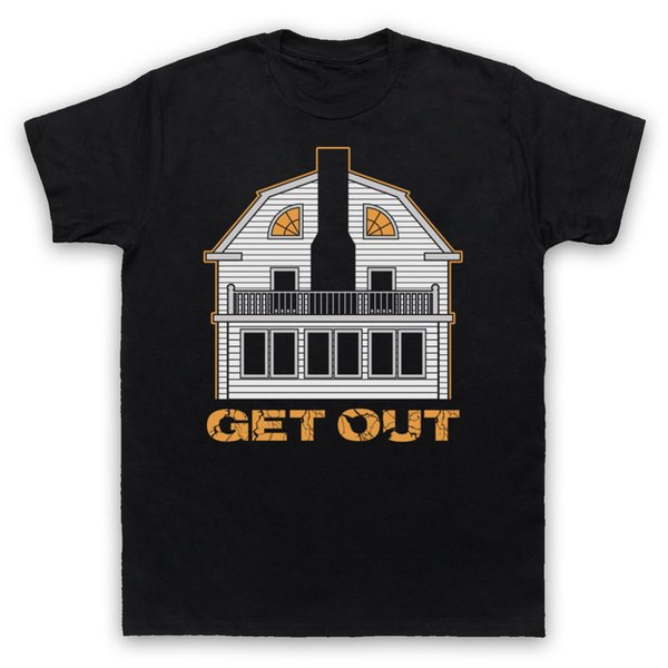 AMITYVILLE HOUSE UNOFFICIAL GET OUT HORROR MOVIE T-SHIRT ADULTS & KIDS SIZES Novelty Cool Tops Men Short Sleeve T shirt