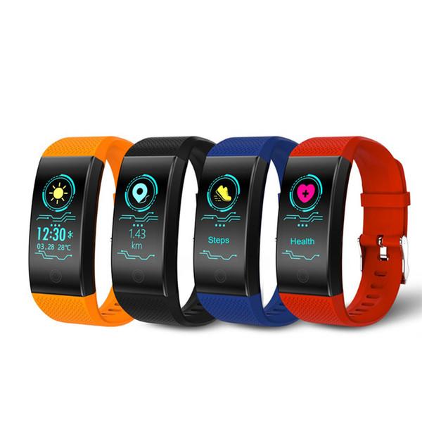 a9d1e2a74b9 Relógio inteligente Dos Homens Dos Esportes Coloridos Monitor de Freqüência  Cardíaca Pedômetro Relógios Mulheres IP68 À