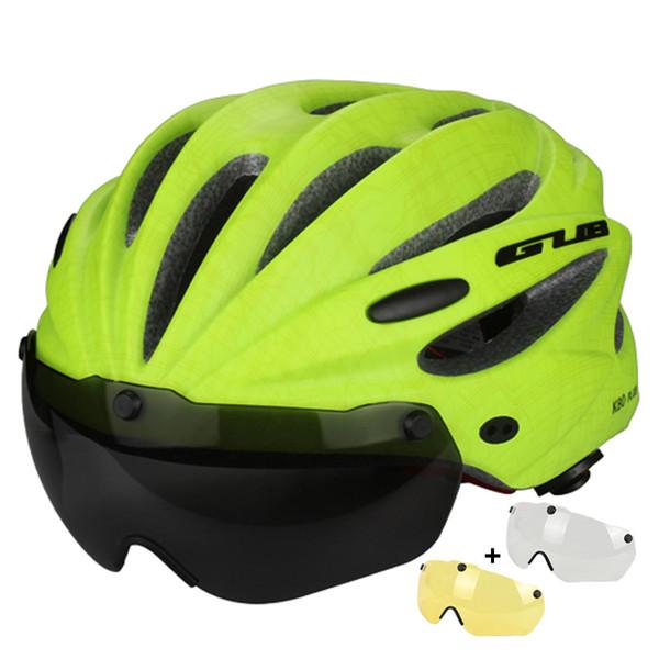Bike Bicycle Helmet Ultralight In-mold Cycling Helmet Magnetic Goggles Glasses & Sun Visor Ciclismo 56-62cm