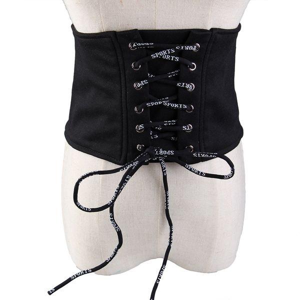 15CM Super Wide Waist Belts Black White Fabric Waistband Belt Dress Accessories Fashion European Ladies Bandage Belts Strechy
