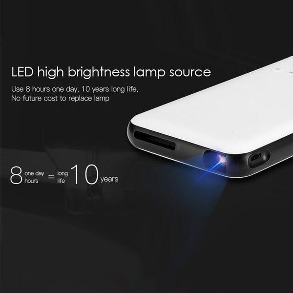 Proiettore Led Tablet Android 7.1 Portatile Streaming Tv Box Smart 1GB 8GB Quad Core RK3128 Ricevitore satellitare Bluetooth Dual Wifi Chromecast