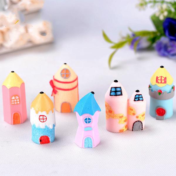 Compre Lapis Castelo Colorido Dos Desenhos Animados Mini Casa