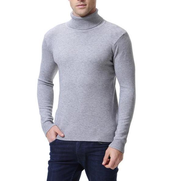 2018 automne hiver hommes base coton épais et chaud pull pull à manches longues o cou solide casual slim fit noir blanc mâle haut