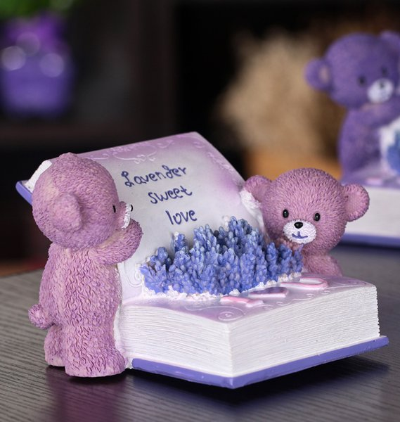 Resin Animal Money Box 15*9.5cm Cute Sweet Bear With Book Piggy Bank Ornaments Crafts Saving Boxes For Money Home detor Gifts