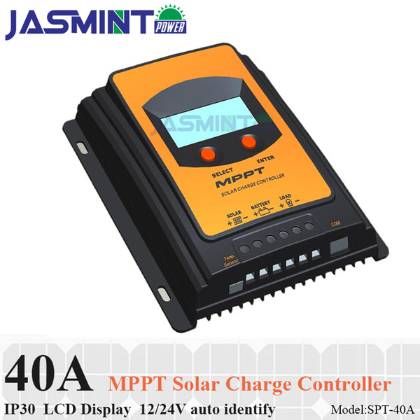40A MPPT charge controller LCD display 12V 24V suto work PV regulator Solar Panel Battery Regulator Charge Controller