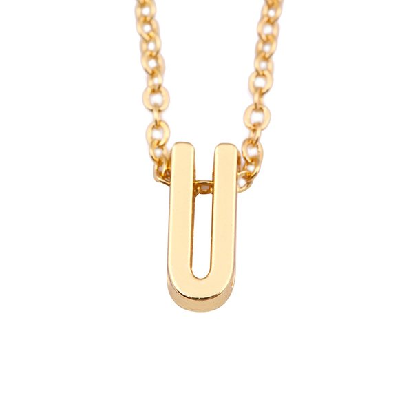 lemegeton Women Accessories Jewelry Gold Color Custom Name Necklace With Slide Letter Initial Charm Retail Fashion