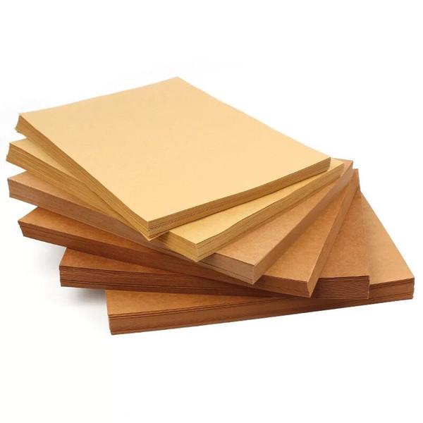 A4 Brown Kraft Paper DIY Handmake Card Making Craft Paper Thick Paperboard Cardboard 70-200gsm 10/20/50pcs High Quality