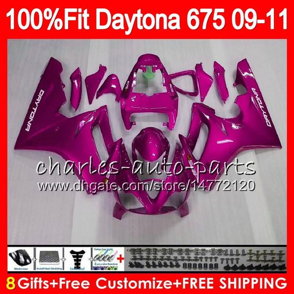 Injection For Triumph Bodywork Daytona Gloss Pink 675 2009 2010 2011 2012 107HM.89 Daytona 675 09 10 11 12 Daytona-675 Daytona675 Fairing