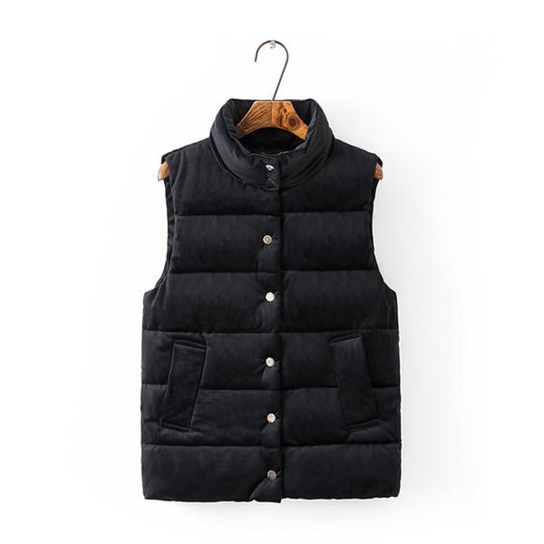 Womens Down Vest Winter Jackets and Coats Sleeveless Gold Velvet Short Vest Autumn Waistcoat Thicken Warm Tops Overcoat 2018 Plus Size 5XL