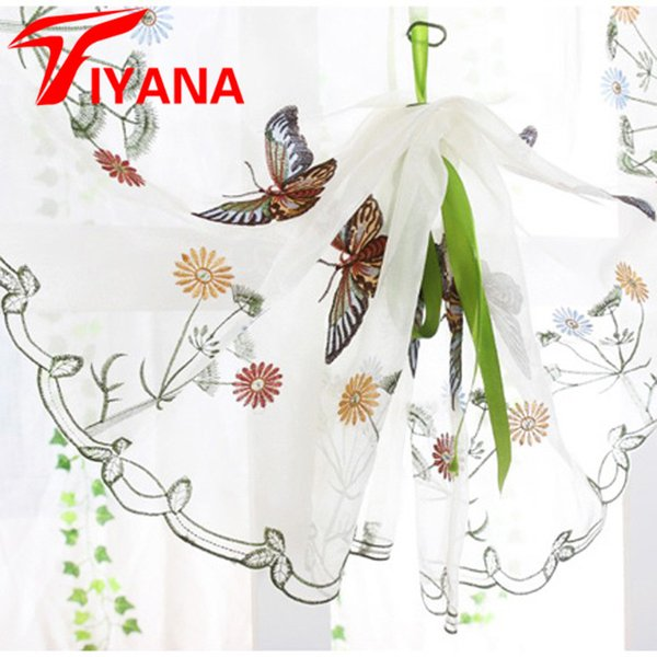 2019 Butterfly Curtain Panel Roman Window Valance Home Kitchen Curtains  String Fabric For Yarn Rustic Curtain Yarn Customize P242Z20 From  Homegarden, ...
