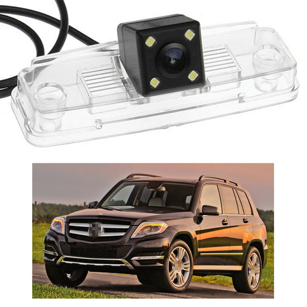 New 4 LED Car Rear View Camera Reverse Backup CCD fit for M-Benz GLK-Class 2010-2015 11 12 13 14