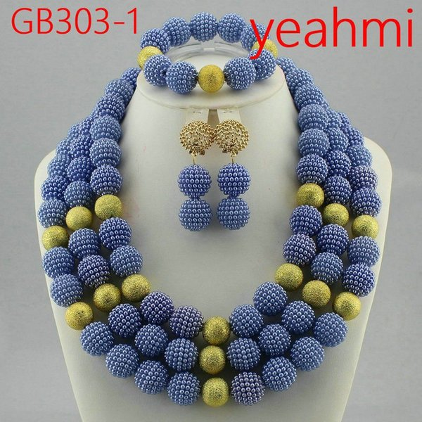 Coral Nigerian Wedding Beads Unique Bridal Jewelry Set Popular Style Wholesale Free Shipping GB303-2