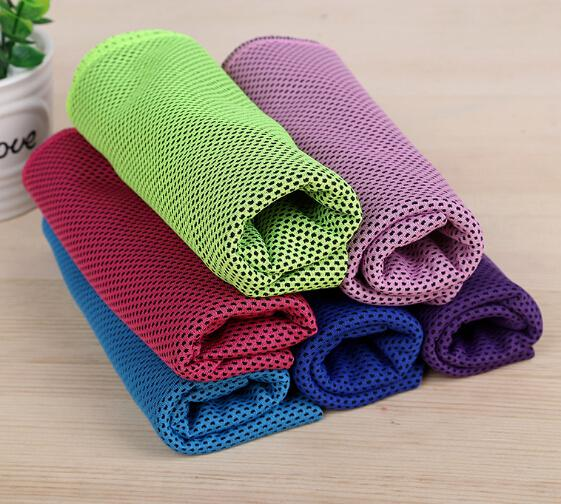 Sports Cooling Towel Double Layer Ice Cold Summer Exercise Fitness Towels Running Yoga Sweat Absorption 90*30 cm
