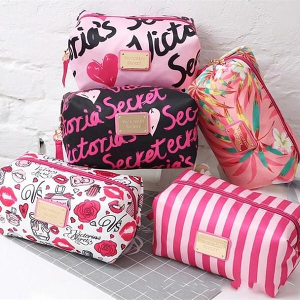 New Creative Multi Color Women Cosmetic Organizer Portable Travel Storage Bags Large Capacity Secrt Print Makeup Bag Hot Sale 13tr aa