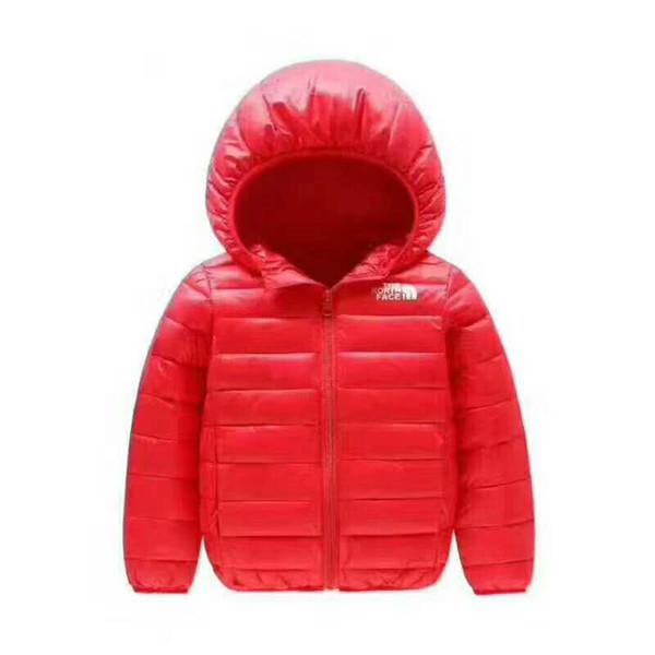 2018 бренд север Детская верхняя одежда мальчик и девочка зимнее теплое пальто с ка