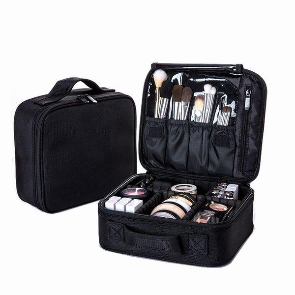 Mujeres Profesional Bolsa de Cosméticos Gran Bolsa de Maquillaje de Viaje A Prueba de agua Tronco Cremallera Maquillaje Organizador Bolsa de Almacenamiento Kit de Aseo