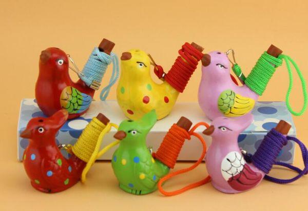 Handmade Ceramic Whistle Cute Style Bird Shape Kid Toys Gift Novelty Vintage Design Water Ocarina For Children Toys
