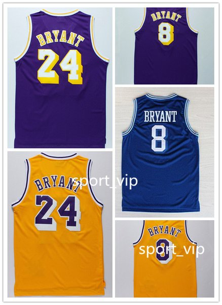 pretty nice 335cc 6cb44 2018 Cheap Men Basketball Jerseys 8 #24 Kobe Bryant Jersey 100% Stitched  High Quality Shirts From Sport_vip, $14.84 | Dhgate.Com