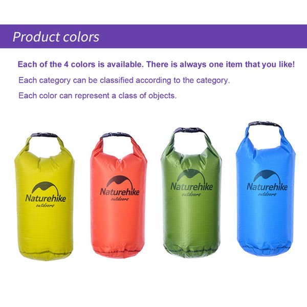 Naturehike Ultralight Waterproof Bag Trekking Bag Silicone Pack Dry Sack Waterproof Bags For Kayaking Rafting Camping Hiking 5L