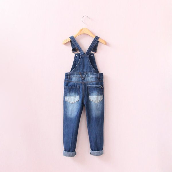 New Spring Baby Boys Girls Denim Overalls Jeans Kids Denim Jumpsuit Child Spring Autumn Long Pants High Quality Jeans