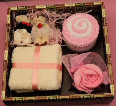 Cute Cotton Towels Gift Box Hand Towels Face Towel Party Wedding Souvenir Gift drop shipping25