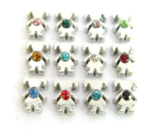 120pcs/lot DIY new girl rhinestone birthstones birthday stones 12 colors each color 10 pcs floating charms for glass living memory lockets