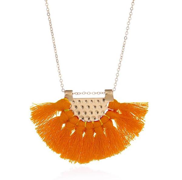 6pcs long gland collier pour les femmes maxi déclaration bijoux de mode mignon beau collier noir rouge multicolore collier