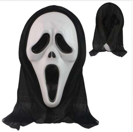 Hohe Qualität Horror Grimasse Maske Screech Party Masken Vollmaske Kopf Latex Creepy Scary