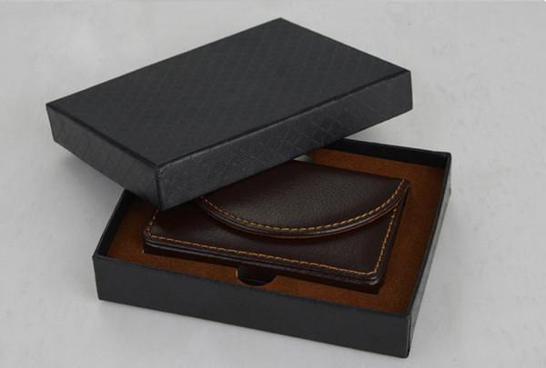 Porta biglietti da visita in pelle PU economici Pratiche tasche porta carte di credito Pocket Portafoglio Uomo da donna Porta carte Titolare regalo di lusso