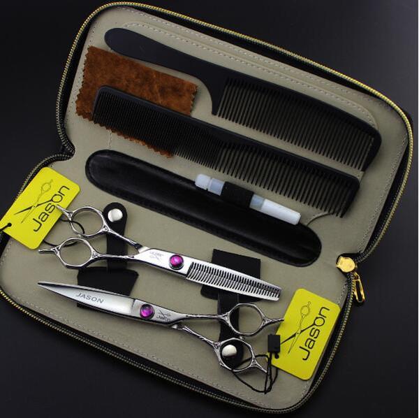 Forbici da parrucchiere da 5,5 pollici forbici piatte assottigliamento forbici set kit strumenti per lo styling dei capelli prodotti forbici per capelli manico fiore più caldo