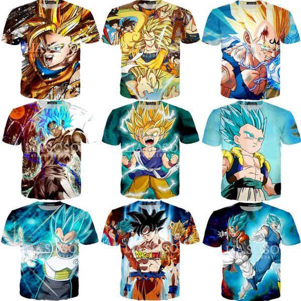 Nouveau Femmes Hommes Mélange Vegeta Saiyan Dragon Ball Loisirs 3D Imprimer T-shirt à manches courtes Tee