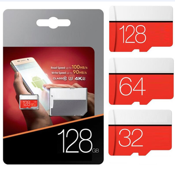 2020 u3 red gray 128gb 256gb 64gb 32gb 128g cla 10 card evo plu 64gb c10 tf memory card with d adapter bli ter packaging dhl hipping