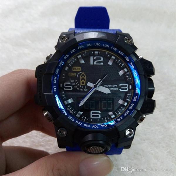 Nuevo Shock Watch GWG Relojes deportivos para hombre Anlog LED Waterpoof exterior Reloj militar reloj buen regalo para hombres boy 1000