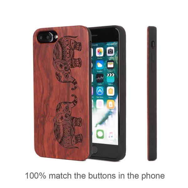 A variety of design wood phone case for iPhone 6 6s 7 8 6plus 7plus 8plus s plus, case for i Phone