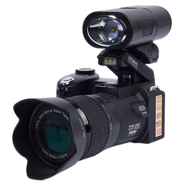 POLO/Protax D7200 Digital Camera 33MP Auto Focus Professional SLR HD Video Camera 24X +Telephoto Wide Angle Lens LED Fill Light Free DHL