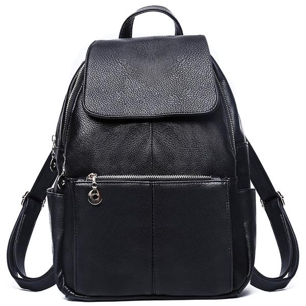 Новый рюкзак из мягкой кожи корейской версии тенденции моды рюкзак рюкзаки женские сумки студенческие сумки
