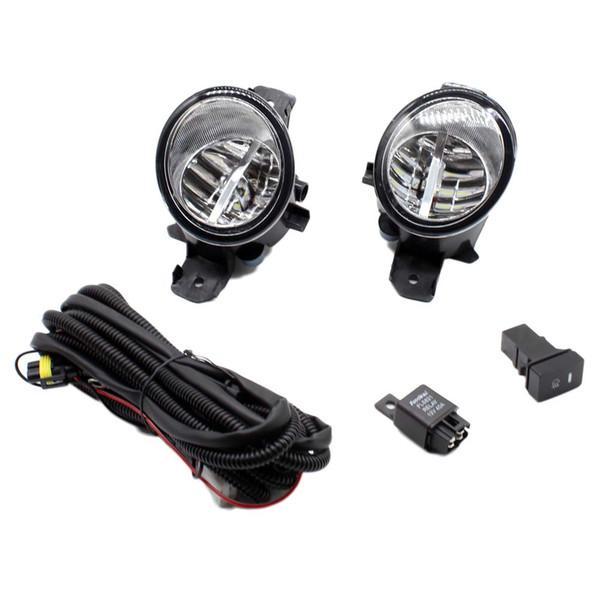NISSAN ALMERA 2 / II Hatchback için 2001 2002-2015 H11 Kablo Demeti Prizleri Tel Bağlayıcı Anahtarı + 2 Sis Farları DRL Ön Tampon LED Lamba
