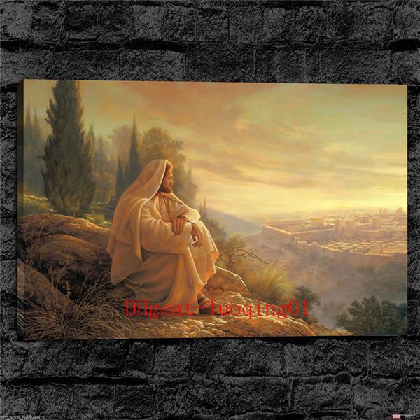 Jesus Christ Greg Olsen , Canvas Pieces Home Decor HD Printed Modern Art Painting on Canvas (Unframed/Framed)
