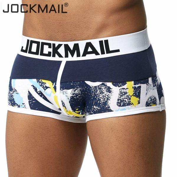 JOCKMAIL Brand boxer men underwear cotton boxershorts men Sexy camouflage printed underwear underpant cuecas boxer panties