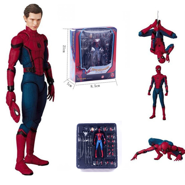 18cm PVC Spiderman Action Figure Toys Hero Spider Man Figurine Model Anime Movie Figure Collection Toys For Boys In Box
