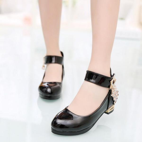Klassische Mädchen PU Leder Schuhe Für Mädchen Party Dance Kinder Kinder Schuhe 2-14 Jahre Prinzessin Kind Hochzeit Schuhe