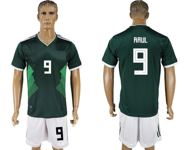 reputable site fcece 30b67 2019 Soccer Jersey 2018/19 World Cup Mexico RAUL 9 Camisetas De Futbol Home  Retro Uniforms Kit Jerseys 2018 World Cup Jersey Cheap Custom From ...
